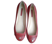 Second Hand Ballerinas Lackleder Bordeauxrot