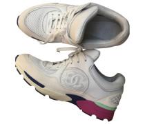 Second Hand Sneakers Veloursleder Weiß