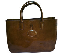 Second Hand Roseau Lackleder Shopper