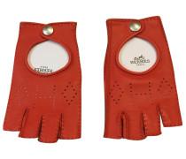 Second Hand Handschuhe Leder Rot