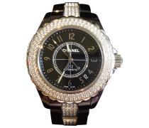Second Hand Uhr J12 Noire Automatique Diamants Keramik Schwarz