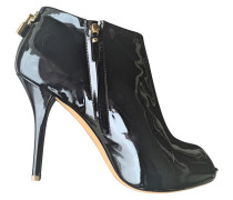 Second Hand Lackleder opentoes stiefel