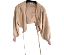 Second Hand Jacke Veloursleder Beige