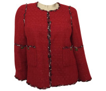 Second Hand Jacke Wolle Rot