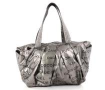 Second Hand Handtasche Leder Silber