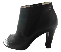 Second Hand Leder Opentoes stiefel