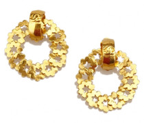 Second Hand Ohrringe Metall Gold