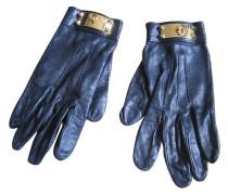 Second Hand Handschuhe Leder Schwarz