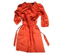 Second Hand Kleid Leinen Orange