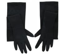 Second Hand Handschuhe Seide Schwarz
