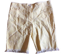 Second Hand Shorts Baumwolle Gelb