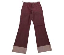 Second Hand Jeans Baumwolle Bordeauxrot