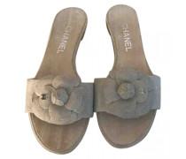 Second Hand ChanelLeinen Pantoffeln