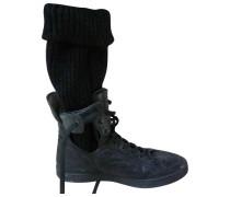 Second Hand Leder Geschnürt boots