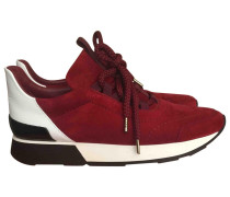 Second Hand Sneakers Veloursleder Bordeauxrot