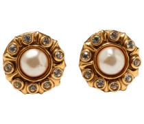 Second Hand Ohrringe Metall Golden