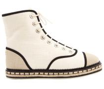Second Hand Leinen geschnürt boots