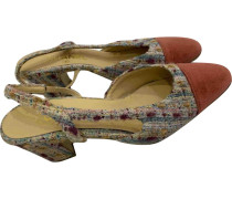 Second Hand Slingback Tweed Pumps