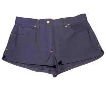 Second Hand Shorts Baumwolle Blau