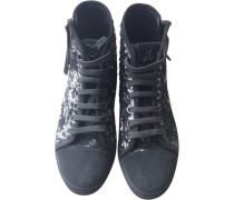 Second Hand Sneakers Leder Grau