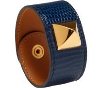 Second Hand Armband Medor Exotenleder Blau