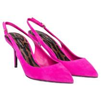 Pumps aus Leder in Pink/Rosa/Violett