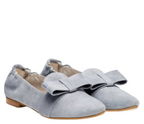 Loafer aus Leder in Hellblau/Blau