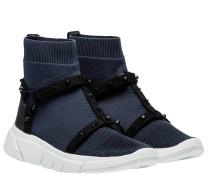 Sneaker aus Gummi in Marine/Blau/Schwarz