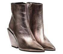 Stiefel aus Leder in Flieder/Violett