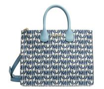 Handtasche aus Leder in Blau