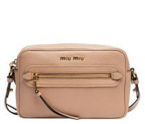 Handtasche aus Leder in Altrosa/Rosa