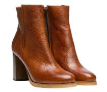 Stiefel aus Leder in Rost/Braun/Rot
