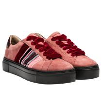 Sneaker aus Leder in Rosa