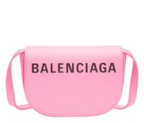 Handtasche aus Leder in Pink/Rosa/Violett