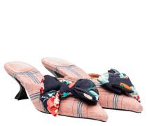 Mules aus Leder in Mehrfarbig