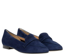 Loafer aus Leder in Blau