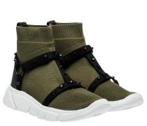 Sneaker aus Gummi in Dunkelgrün/Grün