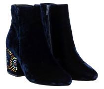 Stiefel aus Leder in Royalblau/Blau