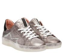 Sneaker aus Leder in Dunkelgrau/Grau