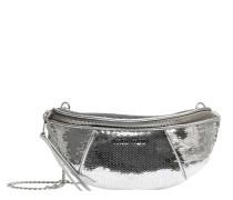 Handtasche aus Leder in Silber