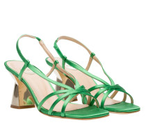 Sandalen aus Leder in Grün
