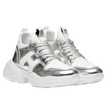 Sneaker aus Neopren in Silber