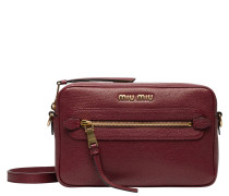 Handtasche aus Leder in Bordeaux/Rosa/Rot/Violett
