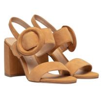 Sandalen aus Leder in Größe 40