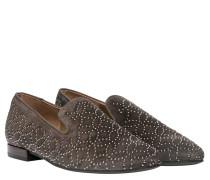 Loafer aus Leder in Braun