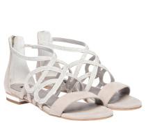 Sandalen aus Leder in Grau