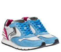 Sneaker aus Leder in Blau