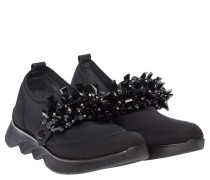 Sneaker aus Neopren in Schwarz