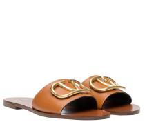 Sandalen aus Leder in Braun