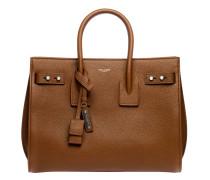 Handtasche aus Leder in Camel/Braun/Orange